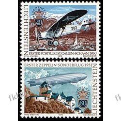 Liechtenstein 1979 Mi 723-24 ** Europa Cept Lotnictwo Lotnictwo