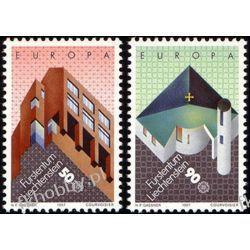 Liechtenstein 1987 Mi 916-17 ** Europa Cept Architektura Pozostałe