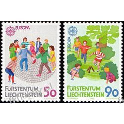 Liechtenstein 1989 Mi 960-61 ** Europa Cept Dzieci Druk wklęsły