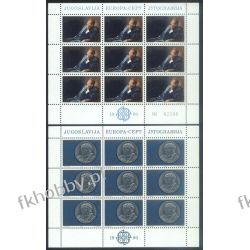 Jugosławia 1980 Mi ark 1828-29 ** Europa Cept Moneta Pozostałe