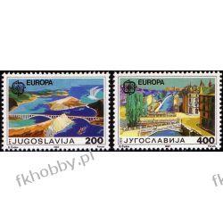 Jugosławia 1987 Mi 2219-20 ** Europa Cept Architektura Pozostałe