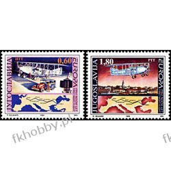 Jugosławia 1994 Mi 2657-58 ** Europa Cept Samolot Lotnictwo