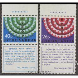 Jugosławia 1984 Mi 2071-72 Zf ** Europa Cept KSZE