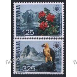 Jugosławia 1970 Mi 1406-07 ** Europa Cept Ptaki Kwiaty Ptaki