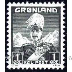 Grenlandia 1938 Mi 1 ** Król Chrystian X Druk wklęsły