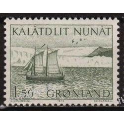 Grenlandia 1974 Mi 87 ** Czesław Słania Statek Morze Pozostałe