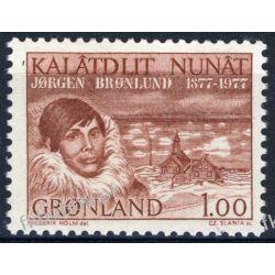 Grenlandia 1977 Mi 104 ** Słania Jorgen Bronlund Grafika