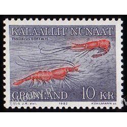 Grenlandia 1982 Mi 133 ** Krewetki Pozostałe