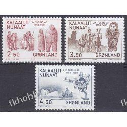 Grenlandia 1983 Mi 143-45 ** Folklor Statek Kolejnictwo