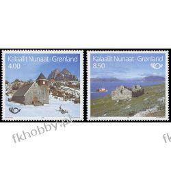 Grenlandia 1993 Mi 234-35 ** Europa Cept NORDEN Kościół Pozostałe