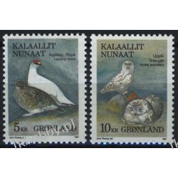 Grenlandia 1987 Mi 176-77 ** Ptaki Sowa Ptaki