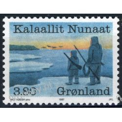 Grenlandia 1987 Mi 173 ** Kontrola Zwierząt Druk wklęsły