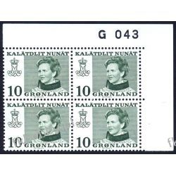 Grenlandia 1973 Mi 84 x4 ** Słania Królowa Małgorzata e Polonica