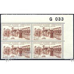 Grenlandia 1978 Mi 110 x4 ** Słania Wojsko a Polonica