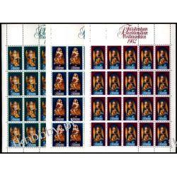 Liechtenstein 1982 Mi ark 813-15 ** Boże Narodzenie Muzyka Anioł Sport