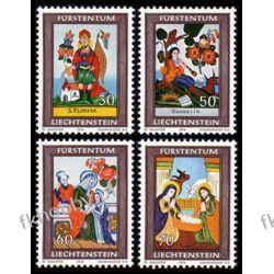 Liechtenstein 1974 Mi 616-19 ** Boże Narodzenie Witraż Flora