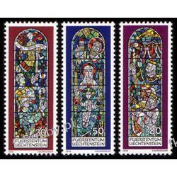 Liechtenstein 1978 Mi 720-22 ** Boże Narodzenie Witraż Sport