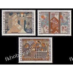 Liechtenstein 1979 Mi 738-40 ** Boże Narodzenie Folklor Ptaki