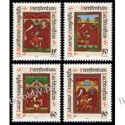 Liechtenstein 1987 Mi 930-33 ** Boże Narodzenie Miniatury Polonica