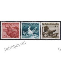 Liechtenstein 1946 Mi 249-51 ** Zwierzęta Ptaki Ssaki