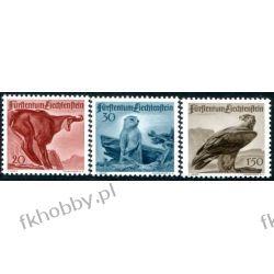 Liechtenstein 1947 Mi 253-55 ** Zwierzęta Ptaki Ssaki