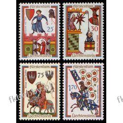 Liechtenstein 1963 Mi 433-36 ** Herby Rycerz Koń Pozostałe