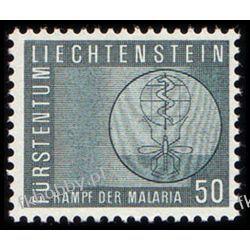 Liechtenstein 1962 Mi 419 ** Malaria Medycyna Komar Owady