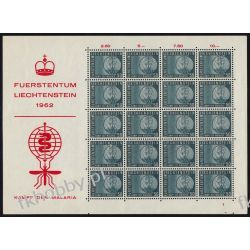 Liechtenstein 1962 Mi ark 419 ** Malaria Medycyna Komar Owady