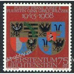 Liechtenstein 1968 Mi 496 ** Herby Polonica
