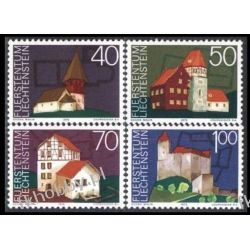 Liechtenstein 1975 Mi 630-33 ** Europa Cept Architektura
