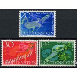 Liechtenstein 1967 Mi 475-77 ** Bajki Koń Smok Ssaki