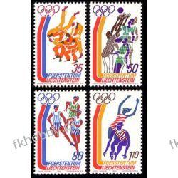 Liechtenstein 1976 Mi 651-54 ** Olimpiada Montreal Druk wklęsły