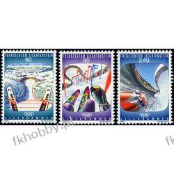 Liechtenstein 1993 Mi 1076-78 ** Olimpiada Lillehammer Ssaki