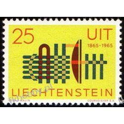 Liechtenstein 1965 Mi 458 ** ITU Druk wklęsły