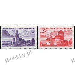 Liechtenstein 1972 Mi 565-66 ** Architektura Góry Pozostałe