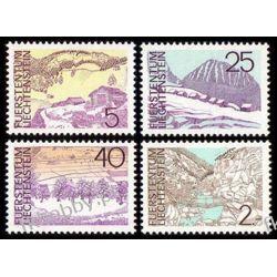 Liechtenstein 1973 Mi 596-99 ** Góry Sport