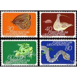 Liechtenstein 1973 Mi 691-94 ** Zwierzęta Motyl Żaba Wąż Owady
