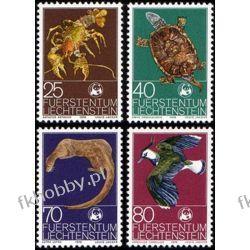 Liechtenstein 1976 Mi 644-47 ** Zwierzęta Ptak Zółw Pozostałe