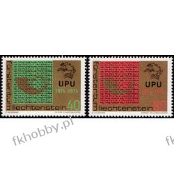 Liechtenstein 1974 Mi 607-08 ** UPU Pozostałe