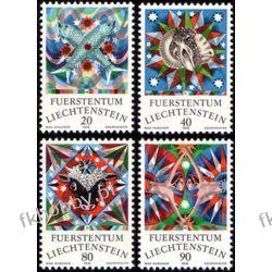 Liechtenstein 1976 Mi 658-61 ** Znaki Zodiaku Ptaki