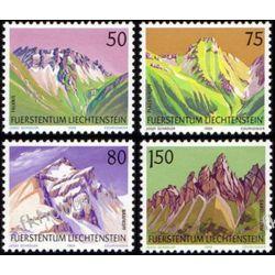 Liechtenstein 1989 Mi 974-77 ** Góry Motoryzacja