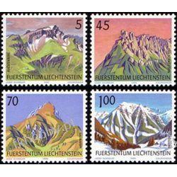 Liechtenstein 1990 Mi 993-96 ** Góry Pozostałe
