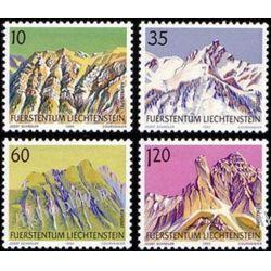 Liechtenstein 1990 Mi 1000-03 ** Góry Polonica