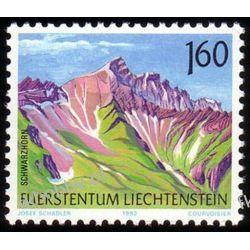 Liechtenstein 1992 Mi 1038 ** Góry Pozostałe