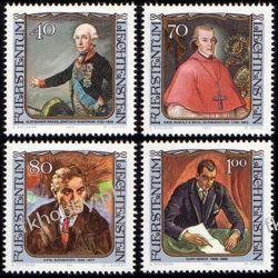 Liechtenstein 1984 Mi 839-49 ** Malarstwo Osobistości Flora