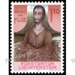 Liechtenstein 1987 Mi 918 ** Święty Mikołaj Druk wklęsły