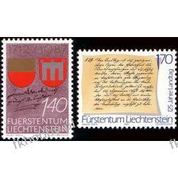 Liechtenstein 1987 Mi 928-29 ** Historia Herb po 1945