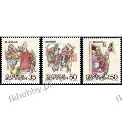 Liechtenstein 1990 Mi 1008-10 ** Folklor Religia Pies