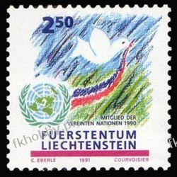Liechtenstein 1991 Mi 1015 ** ONZ Gołąb Ptaki