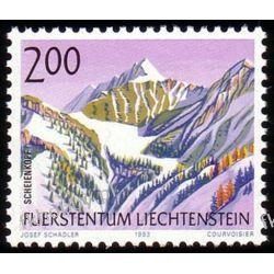 Liechtenstein 1993 Mi 1059 ** Góry po 1945